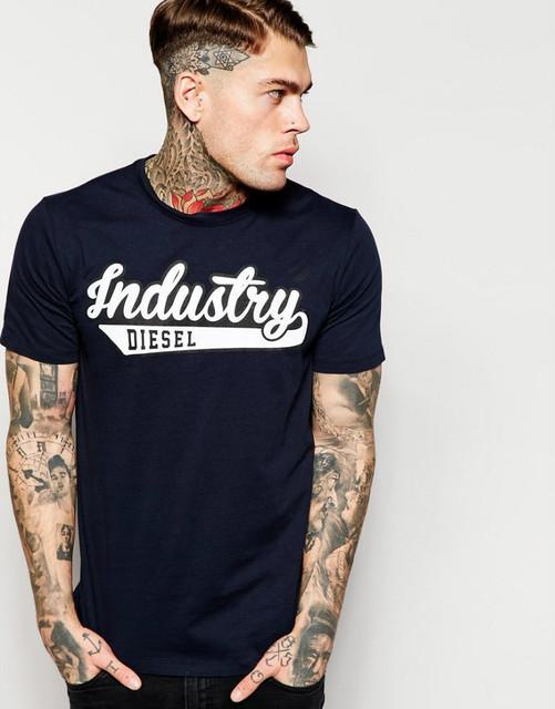 Футболка черная Diesel Industry