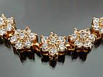 Браслет з цирконами. Покриття 18-каратне золото., фото 2