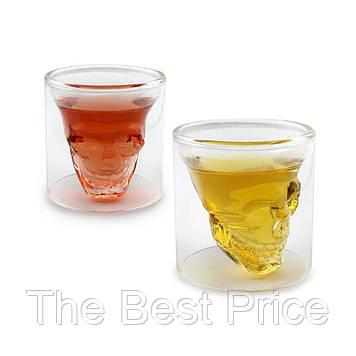Склянку з подвійними стінками Череп в склянці 70 ml