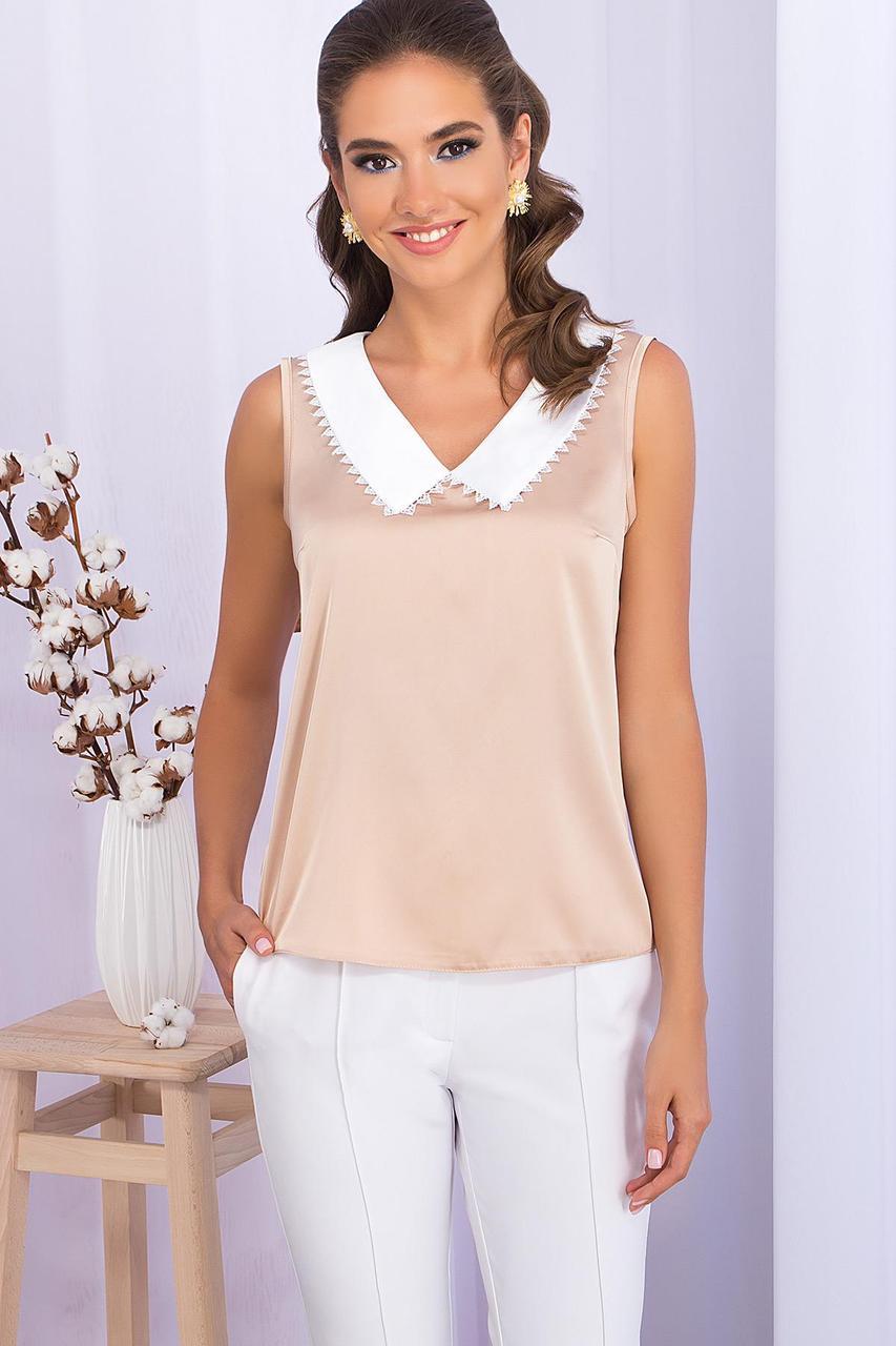 Блуза річна шовкова бежева Мурел б/р