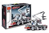 """Конструктор Decool 3350 """"Автопідйомник з люлькою"""" (Bucket Truck) 592 дет, фото 3"""