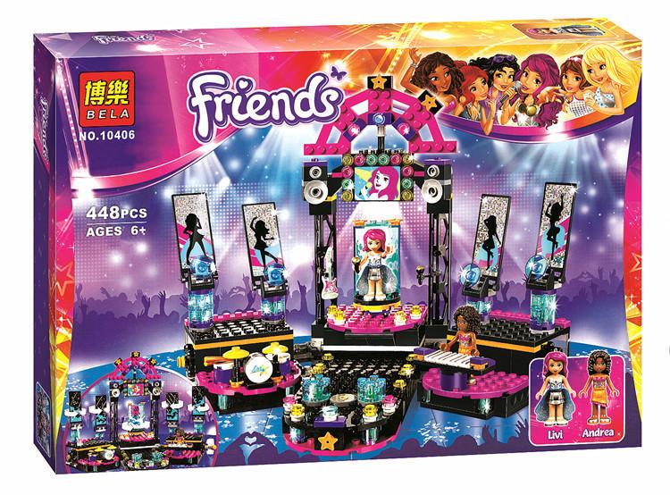 Конструктор Friends Сцена поп-звезды 448 деталей Bela 10406