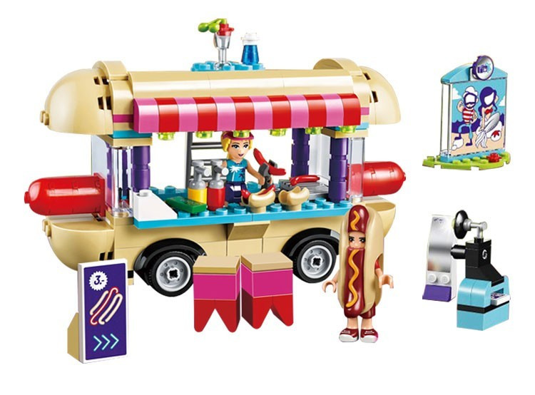 Конструктор Bela Friends 10559 Парк розваг Фургон з хот-догами 249 деталей