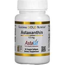 """Астаксантин California GOLD Nutrition """"Astaxanthin"""" 12 мг (30 капсул)"""
