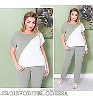 Костюм штани з блузою-футболкою р-ри 50-60 арт. 214