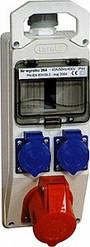 Монтажный набор - окно 5мод. 32А 3Р+Z 400V 2x16A 2P+Z 250V