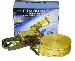 Стяжка груза ST-212-10 YL 5т* 50мм х 10м (color box)