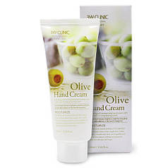 3W CLINIC  Крем для рук ОЛИВА Olive Hand Cream, 100 мл