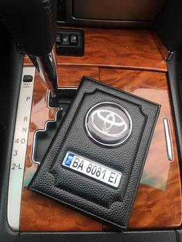 Обкладинка для автодокументів з номером та логотипом авто