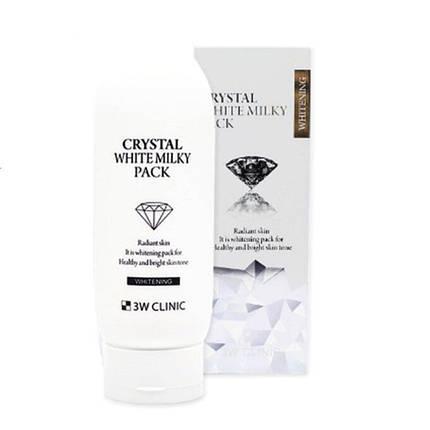 3W CLINIC Маска для лица отбеливающая Crystal white milky pack 200 мл, фото 2