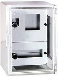 Шафа ударостійкий з АБС-пластику 300х400х165мм IP65 з прозорою дверцятами панель