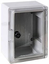 Шкаф ударопрочный из АБС-пластика 210х280х130мм IP65 с прозрачной дверцей