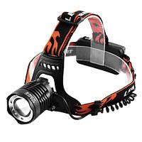 Налобний ліхтар Cree POLICE світить ультрафіолетом 1050 Lumen чорний, налобний тактичний ліхтарик, фото 1