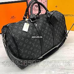 Дорожная большая сумка Louis Vuitton. Спортивная сумкадорожная сумка  Луи Виттон серая