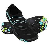 Взуття для пляжу і коралів аквашузы SportVida Size 37 Black/Blue SKL41-277875, фото 4