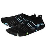 Взуття для пляжу і коралів аквашузы SportVida Size 38 Black/Blue SKL41-277876, фото 6