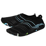 Взуття для пляжу і коралів аквашузы SportVida Size 39 Black/Blue SKL41-277877, фото 6