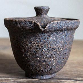 Гайвань сіборідасі в японському стилі з грубої глини 200 мл