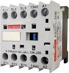 Контактор e.industrial.ukc.12M.220 12А 220В no малогабаритный