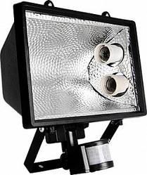 Прожектор с датчиком на движение e.save.light.2e27move.1000.black под энергосберегающую лампу 2 патрона Е27 че