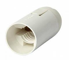 Патрон пластиковий Е14 білий