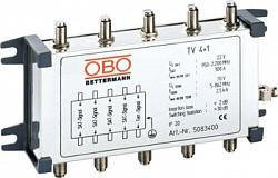 Коаксиальное устройство защиты для спутникового и кабельного многопозиционного подключения. OBO Bettermann