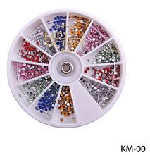 Набор страз в карусельке (6 цветов) Lady Victory LDV KM-00 /34-1
