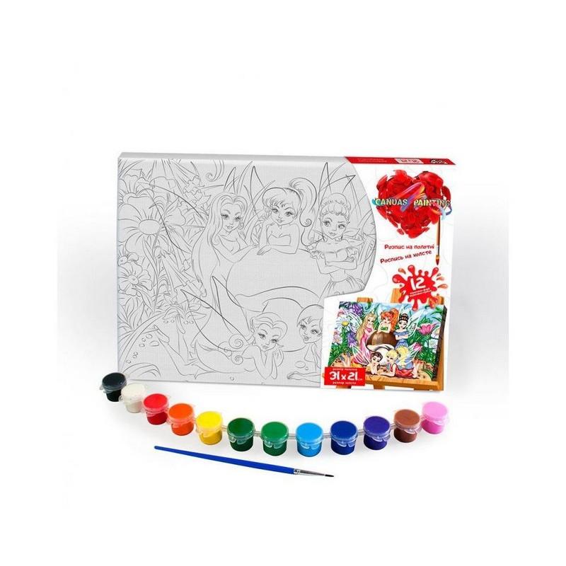 Картина за номерами на холсті 31*21 Феї Danko Toys