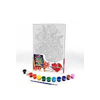 Картина за номерами на холсті 31*21 Квіти Danko Toys