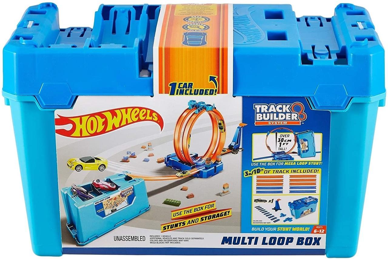 Трек Хот Вілс Гра без кордонів - Коробка для трюків Петля 3 в 1 Hot Wheels Track Builder Multi Loop Box