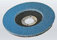 Круг шлифовальный лепестковый 125х22 мм Р100 плоский Zr/O