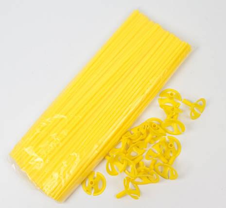 Палочка с насадкой для шариков жёлтая  100 шт., фото 2
