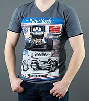 Мужская футболка с автомобильным рисунком