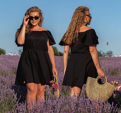 """Летнее нарядное платье в больших размерах 1221 """"Шифон Крылышки Мини"""" в расцветках"""