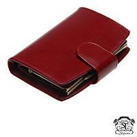 Женское портмоне-бумажник кожаное Stefania, кошелёк женский тёмно-красный