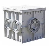 Колодец кабельный пластиковый e.manhole.300.300.300.6.cover 300х300х300мм 6 выходов под трубу с крышкой