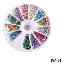 Набор страз в карусельке (6 цветов) Lady Victory LDV KM-01 /34-1