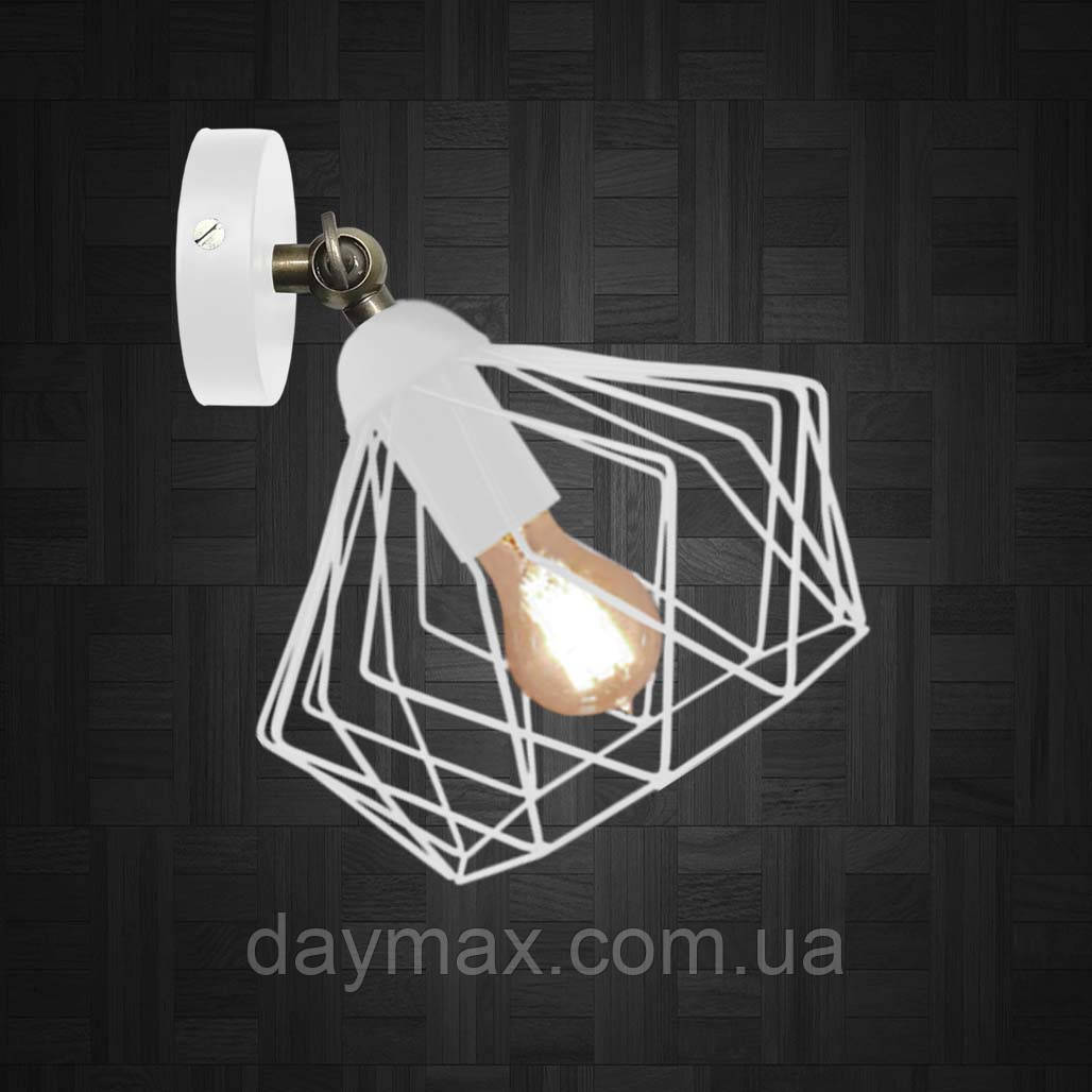 Світильник поворотний на 1-лампу CARAVAN/LS E27 бра білий, настінно-стельовий