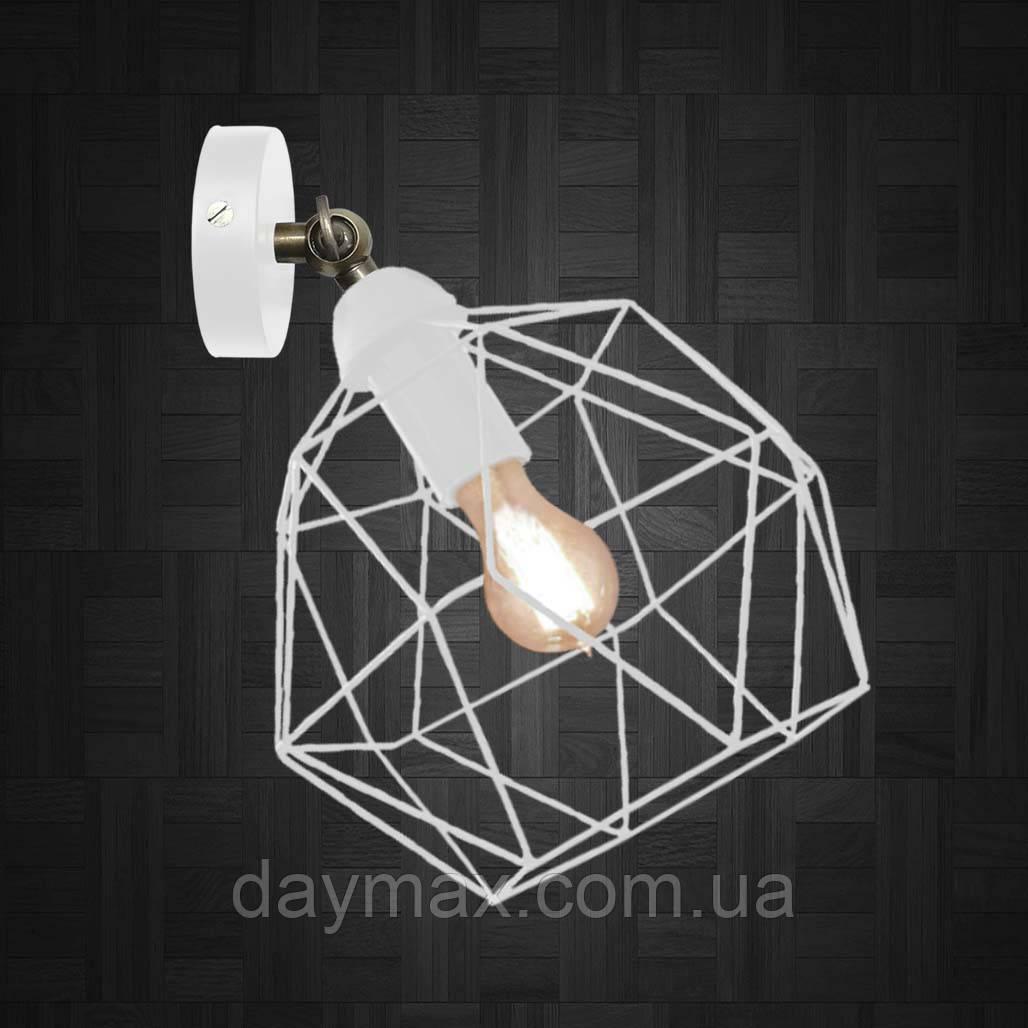 Світильник поворотний на 1-лампу ANTHILL/LS E27 бра білий, настінно-стельовий