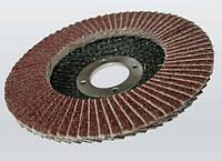 Круг шлифовальный лепестковый 125х22 мм Р100 прямой AL/O