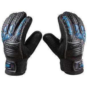 Вратарские перчатки черные Latex Foam REUSCH, р.6, фото 2