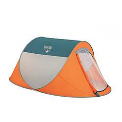 Трехместная палатка Bestway Nucamp 68005 Оранжевый с серым 008962 ES, КОД: 1207358