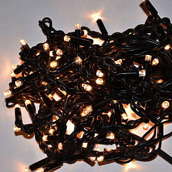 Гирлянда Уличная Бахрома LED 120 тёплый белый чёрный провод AN000148 ES, КОД: 2457942