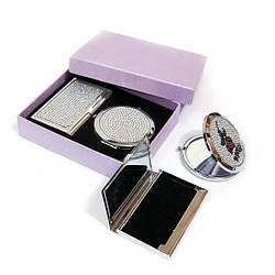 Подарочный набор зеркальце с визитницей 45447 ES, КОД: 1364733