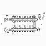 """Коллекторная группа Icma 3/4"""" 9 выходов, с расходомером №A2K013, фото 2"""