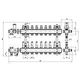 """Коллекторная группа Icma 1"""" 9 выходов, с расходомером №K0111, фото 2"""