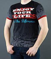 Молодежная футболка из хлопка черного цвета