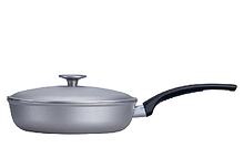Сковорода алюминиевая с крышкой Талко 24 см D 50241