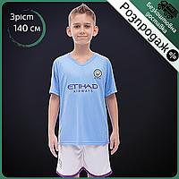Розпродаж! Футбольна форма дитяча SP-Planeta MANCHESTER CITY Зріст 140-145 см Блакитний (CO-1045) 26, фото 1