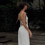 Білий літній сарафан міді з відкритою спинкою (р. S, M, L) 68032760, фото 5